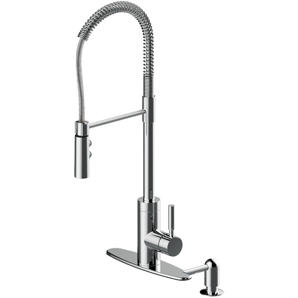Pull Out Single Handle Kitchen Faucet by Soleil