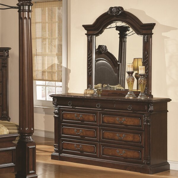 Payne 9 Drawer Dresser with Mirror by Astoria Grand