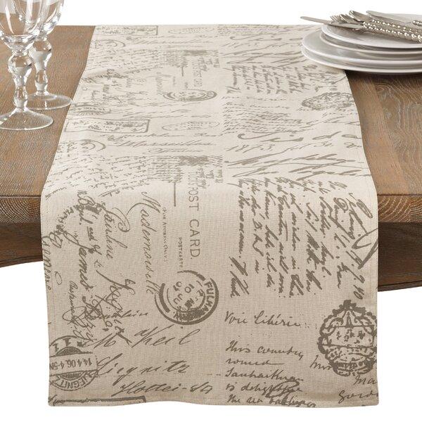 Noren Printed Scribed Table Runner by One Allium Way