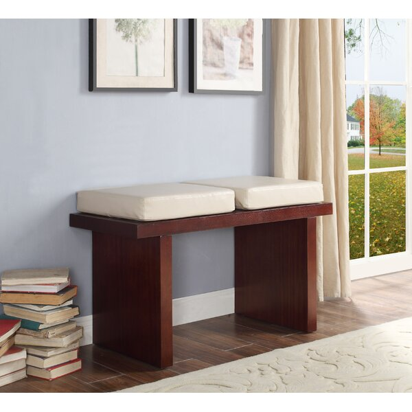 Harker Counter Height Faux Leather Bench by Charlton Home