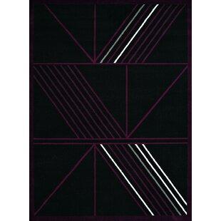 Best Price Eloise Black Area Rug ByEbern Designs