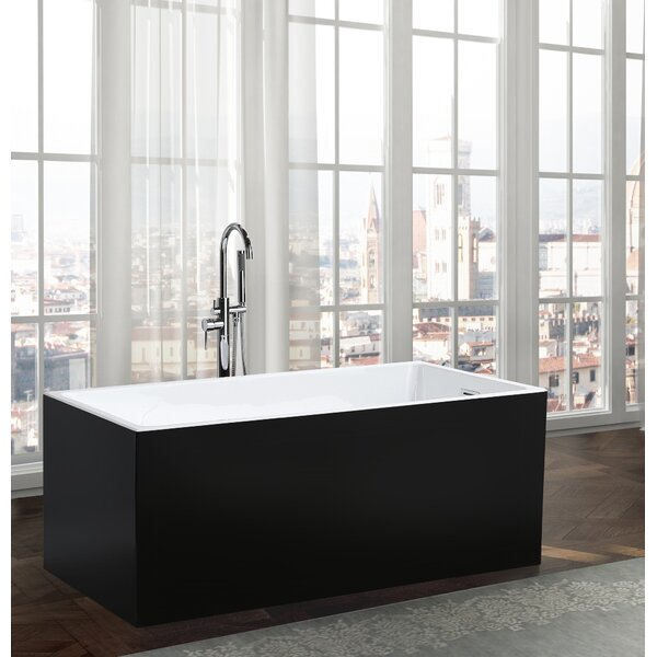 Brindisi 59.1 x 29.5 Freestanding Soaking Bathtub by Bellaterra Home