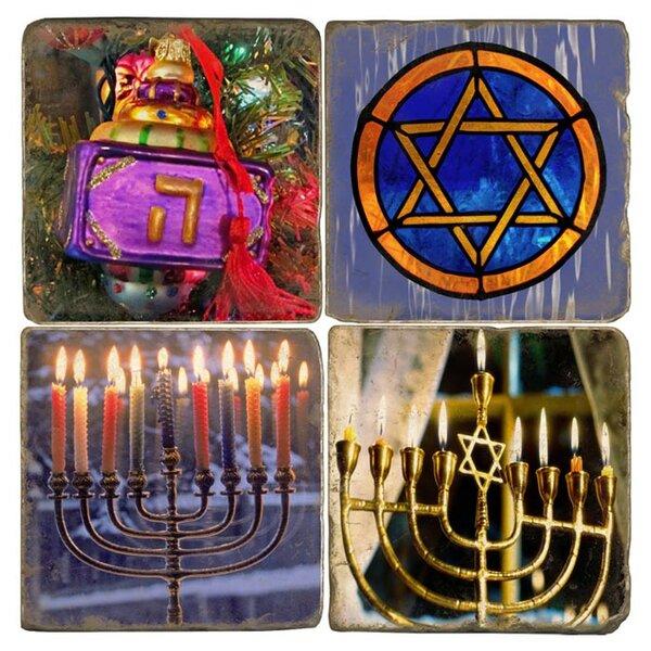 Hanukkah Marble Coaster (Set of 4) by Studio Vertu