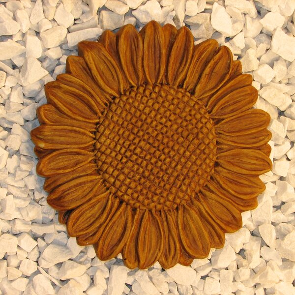 Sunflower Stepping Stone by Nichols Bros. Stoneworks