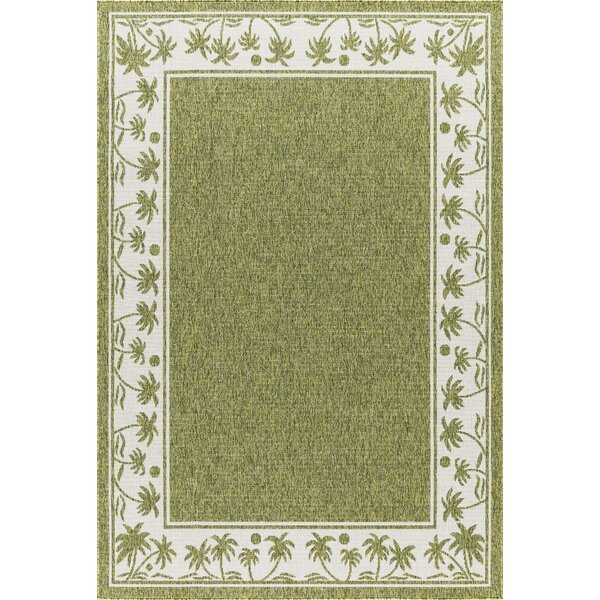 Springcreek Beautiful Tropical Palms Green Indoor/Outdoor Area Rug by Bay Isle Home