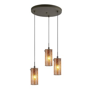 Keiser 3-Light Metal Mini Pendant