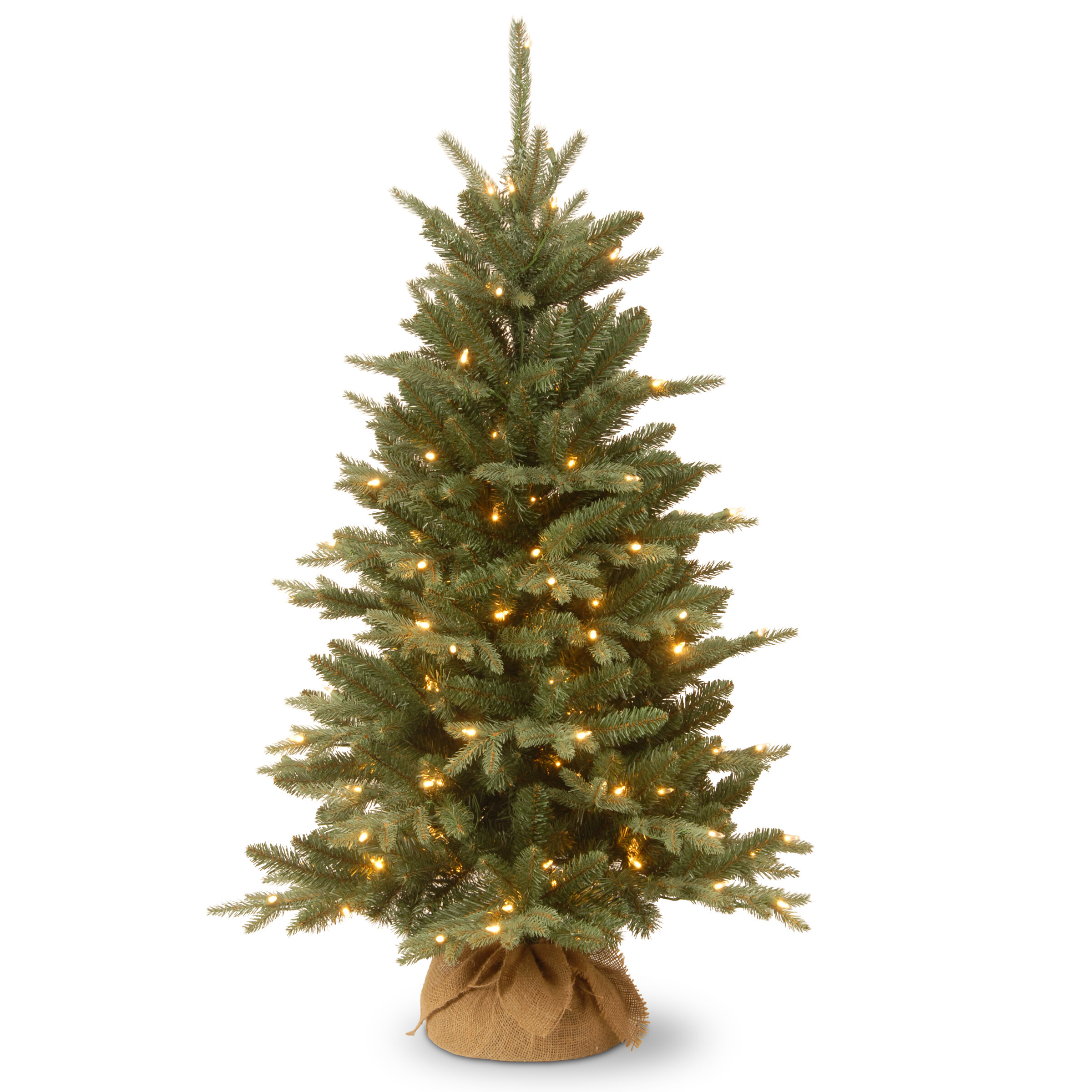 c23e8b7ea54c0 National Tree Co. 4  Green Pine Trees Artificial Christmas Tree with 150  Clear Lights