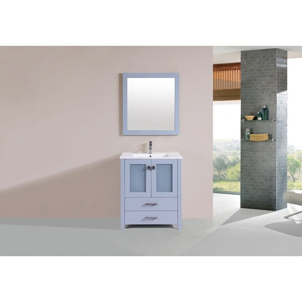 Lapp 30 Single Bathroom Vanity Set with Mirror by Latitude Run