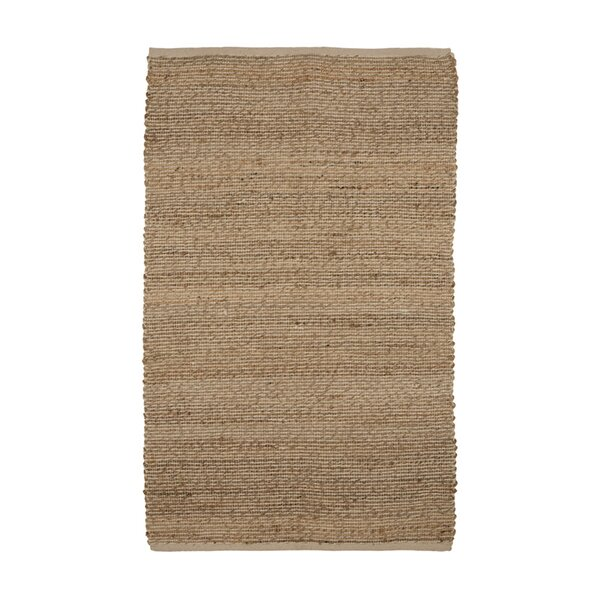 One-of-a-Kind Erdman Hand Woven Wool/Cotton Beige/Brown Area Rug by Highland Dunes