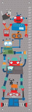 Robot Stack by Vicky Barone Growth Chart by Oopsy Daisy