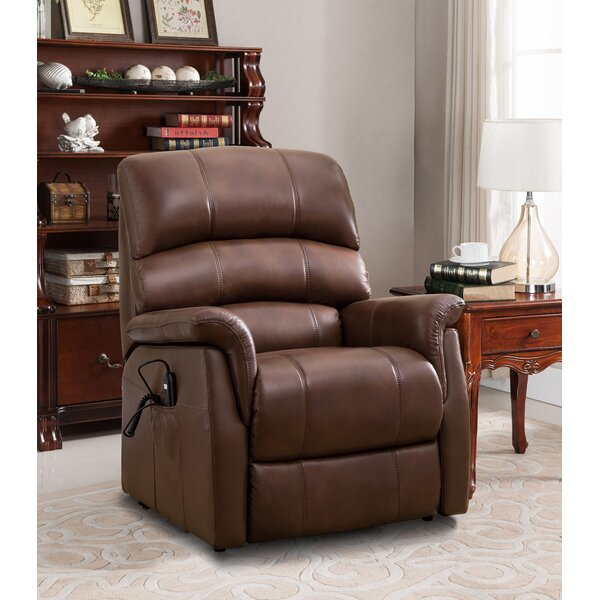 Perreira Leather Power Lift Assist Recliner by Winston Porter Winston Porter