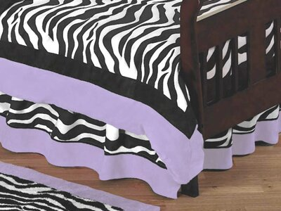 Zebra Toddler Bed Skirt by Sweet Jojo Designs