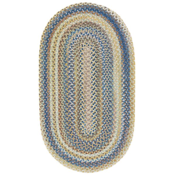 Phoebe Light Blue Variegated Stair Tread by August Grove