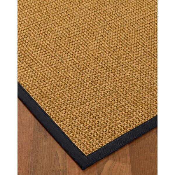 Atia Border Hand-Woven Beige/Midnight Blue Area Rug by Bayou Breeze