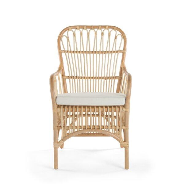Deloris Rattan Arm Chair (Set of 2) by Bayou Breeze