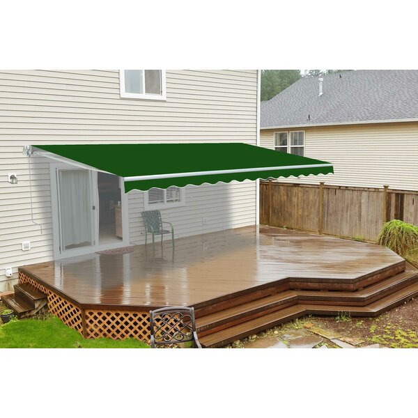 10 ft. W x 8 ft. D Retractable Patio Awning by ALEKO