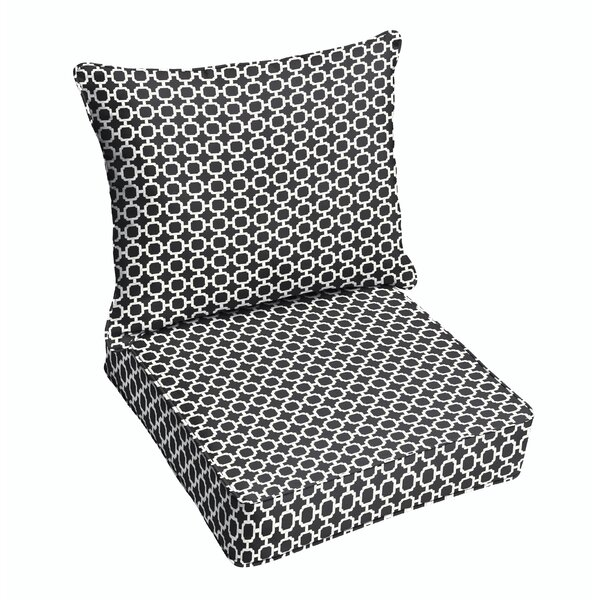 Samantha Geometric Dining Chair Cushion by Latitude Run