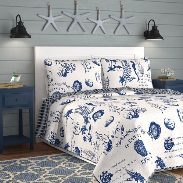 Canfield Reversible Quilt Set by Highland Dunes