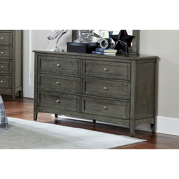 Socorro 6 Drawer Double Dresser with Mirror by Charlton Home