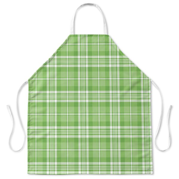 Candy Cane Side Print Plaid Apron by Red Barrel Studio