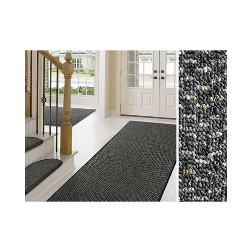 Laraine Tufted Anthracite Rug Mercury Row Rug Size: Runner 3