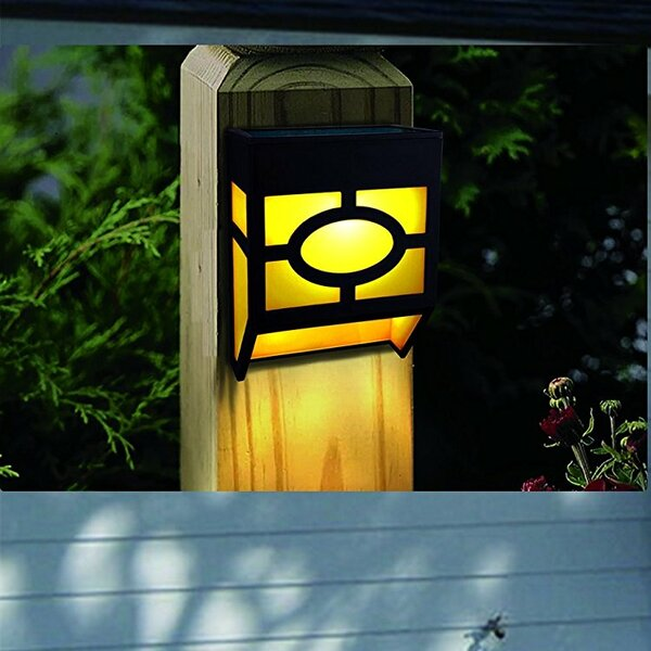 Cullens 4-Light Fence Post Cap (set Of 4) By Ebern Designs.