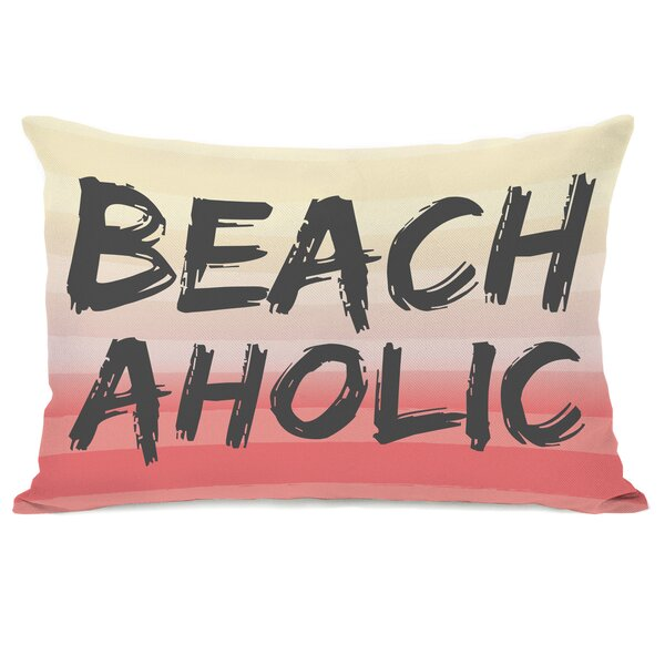 Beachaholic Lumbar Pillow by One Bella Casa