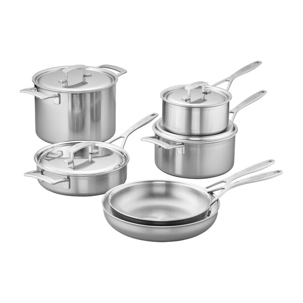 Industry 10 Piece Stainless Steel Cookware Set by Demeyere