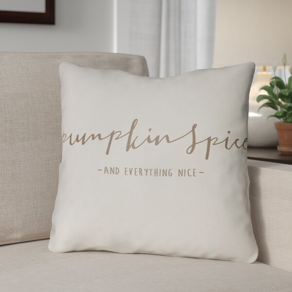 Pumpkin Spice Indoor/Outdoor Throw Pillow by The Holiday Aisle