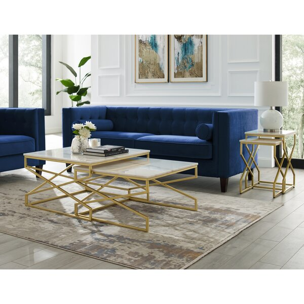 Jayceon Square 2 Piece Coffee Table Set by Everly Quinn Everly Quinn