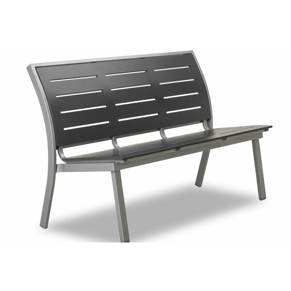 Bazza Marine Grade Polymer/Aluminum Stacking Armless Bench by Telescope Casual