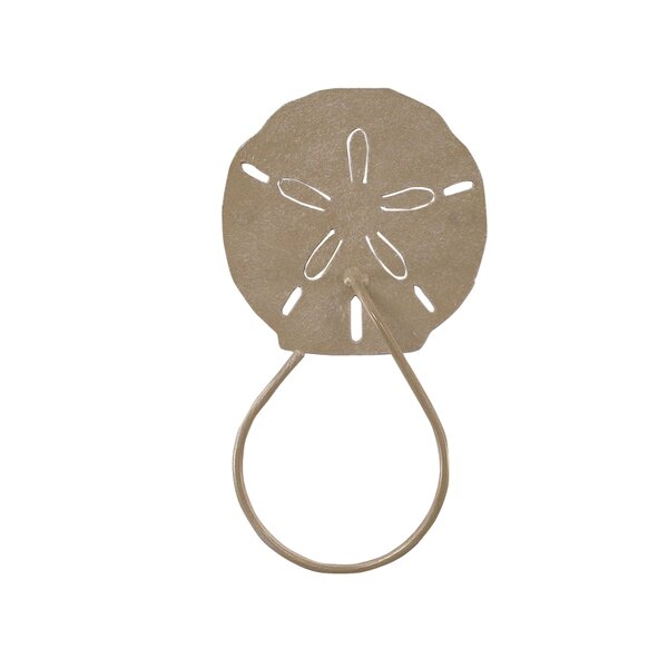 Sand Dollar Iron Hand Towel Ring by Coast Lamp Mfg.