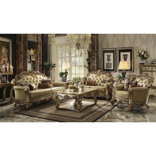 Avance Faux Leather Configurable Living Room Set by Bloomsbury Market