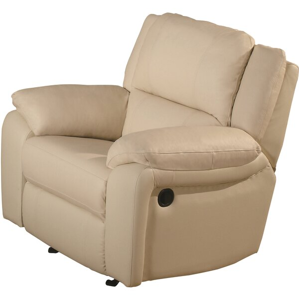 Orchard Lane Leather Recliner by Darby Home Co