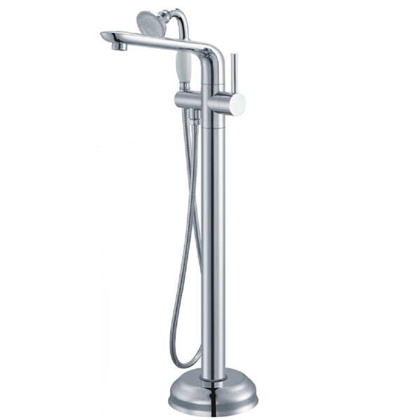 Single Handle Floor Mounted Freestanding Tub Filler with Handshower by AKDY