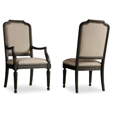 corsica upholstered dining chair set of 2