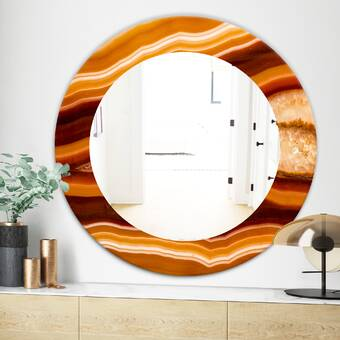 East Urban Home Marbled Geode 1 Accent Mirror Wayfair