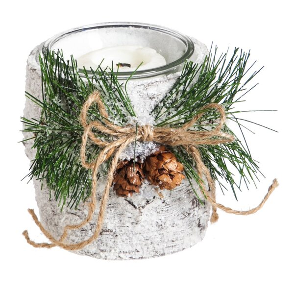 Birch Glass Votive Holder by Three Posts
