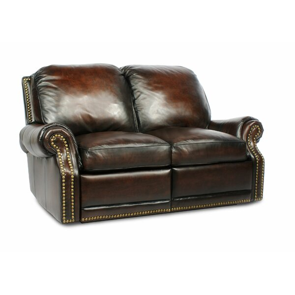 Timmie Leather Reclining Loveseat by Canora Grey