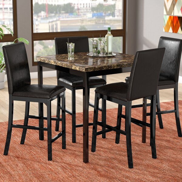 Della 5 Piece Dining Set by Latitude Run