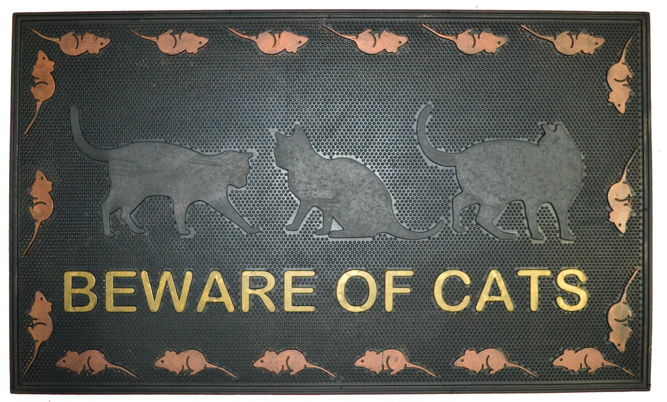 Beware of Cat Doormat  sc 1 st  Wayfair & Imports Decor Beware of Cat Doormat u0026 Reviews | Wayfair pezcame.com