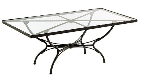 Aikens Rectangular Aluminum Dining Table by One Allium Way