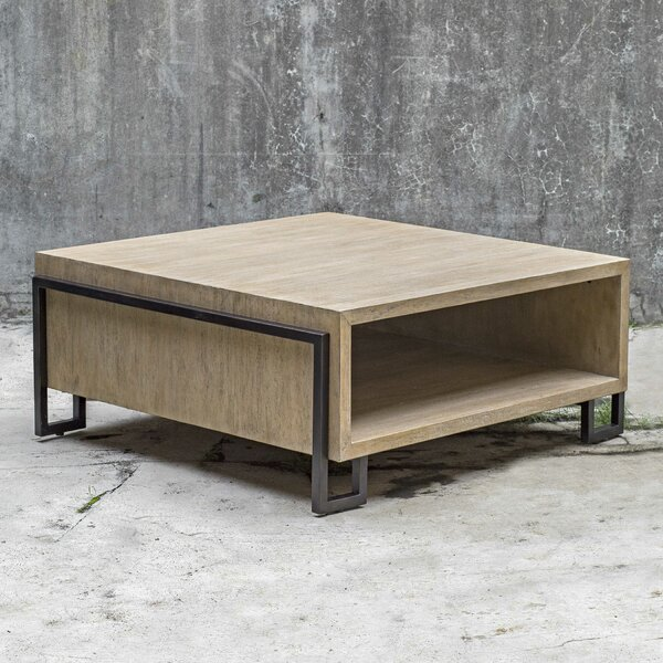 Abigail Coffee Table with Storage by 17 Stories