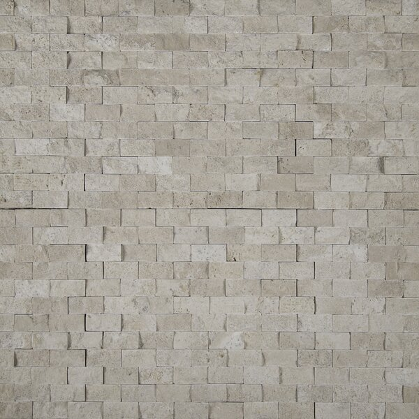 Puebla 1 x 2 Travertine Mosaic Tile in Beige by MSI