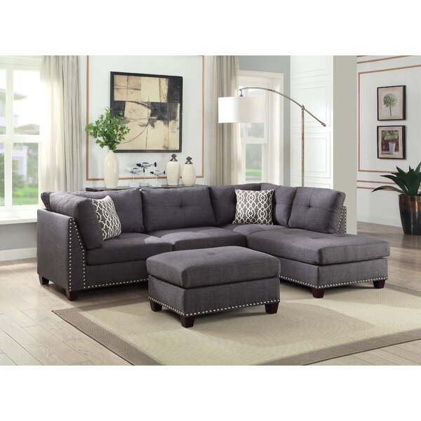 Cheap Price Draco Sectional Sofa With Ottoman