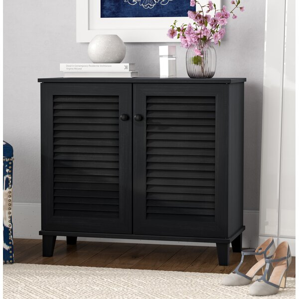 Darby Home Co Baxton Studio 14 Pair Shoe Storage Cabinet Reviews