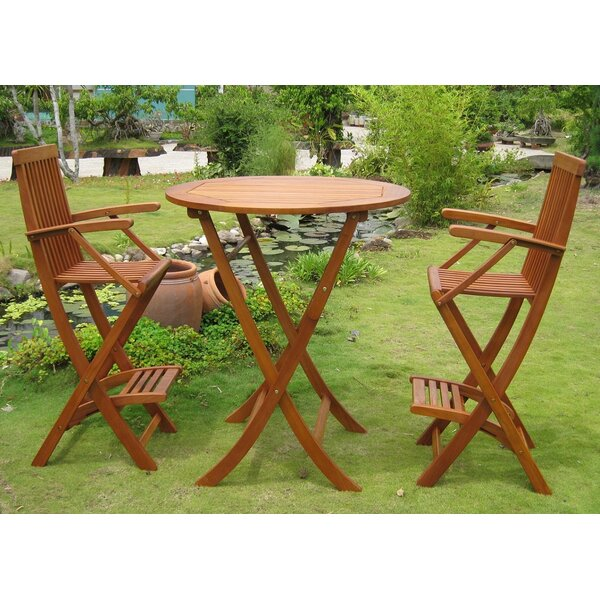 Carmona 3 Piece Bar Height Dining Set by International Caravan