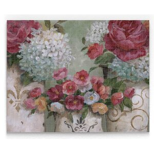 'Contained Blooms' Painting Print on Wrapped Canvas by Ophelia & Co.
