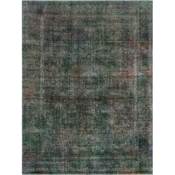 One-Of-A-Kind Treva Hand-Knotted Wool Gray Area Rug by Isabelline