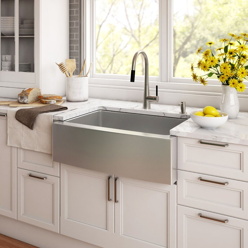 30   x 21   farmhouse kitchen sink with drain assembly 30   x 21   farmhouse kitchen sink with drain assembly  u0026 reviews      rh   allmodern com